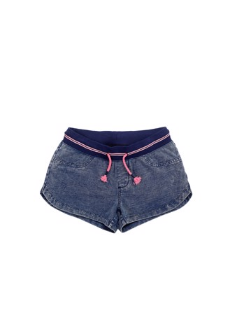 Quần shorts jeans cột dây (Knit denim pull-on short)