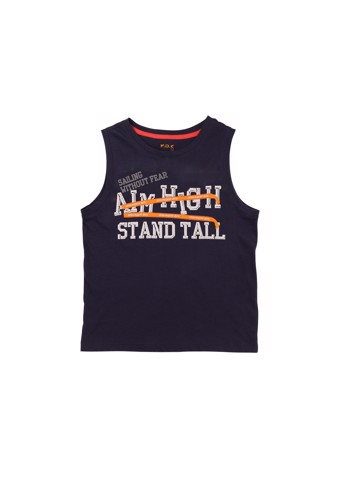 Áo thun ba lỗ Aim High Stand Tall (Navy Boy Vest Top)