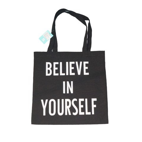 Túi canvas Believe In Yourself Đen- 37*38.5cm ONON 6920180901246 O0202002C35