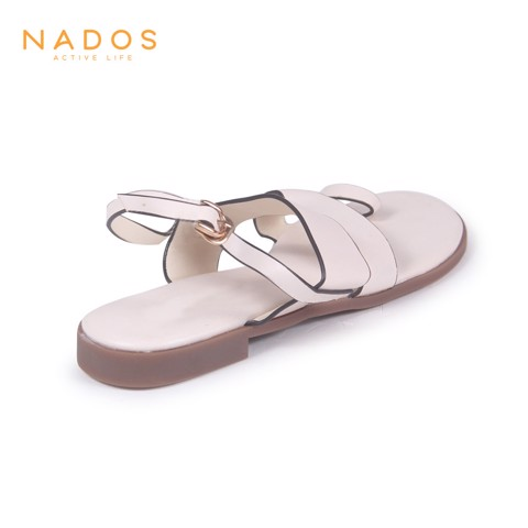 Sandal Xẹp Monly Kem SD007