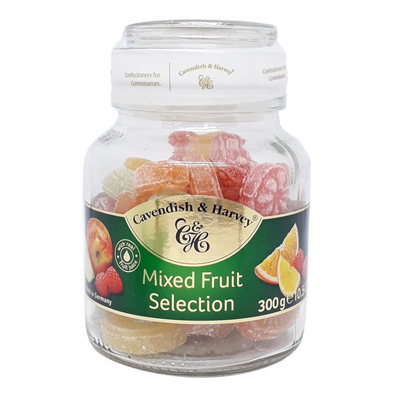 Kẹo trái cây Cavendish & Harvey Mix Fruit Selection hũ 300g