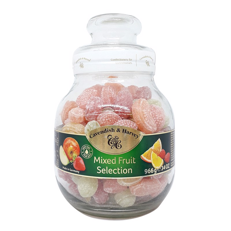 Kẹo trái cây Cavendish & Harvey Mix Fruit Selection hũ 966g