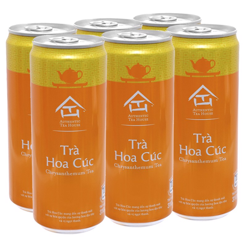 Trà hoa cúc Authentic Tea House lốc 6 lon x 310ml
