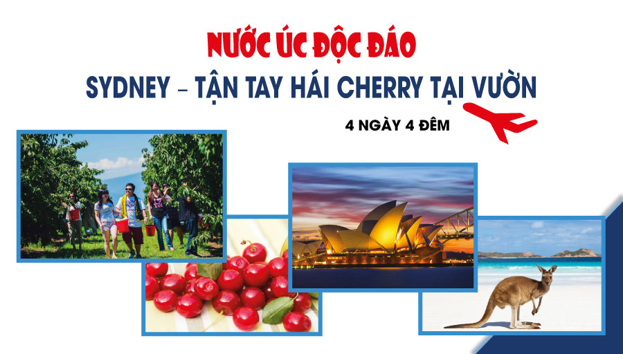 TOUR ÚC: SYDNEY - CHERRY FARM (4N4Đ)
