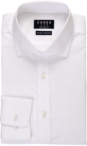 COEDO Semi Wide Poplin White Solid