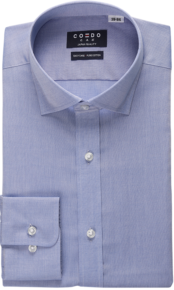 COEDO Semi Wide Poplin Blue Chambray