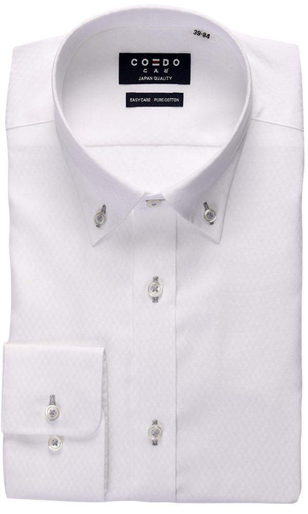 Coedo Button Down Dobby White full Body