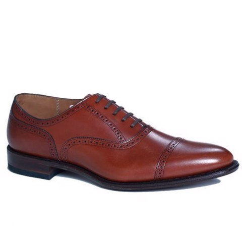 REGAL Dark Brown Semi Brogue Oxford