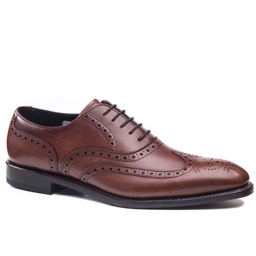 REGAL Full Dark Brown Wing Tip Brogue Oxford