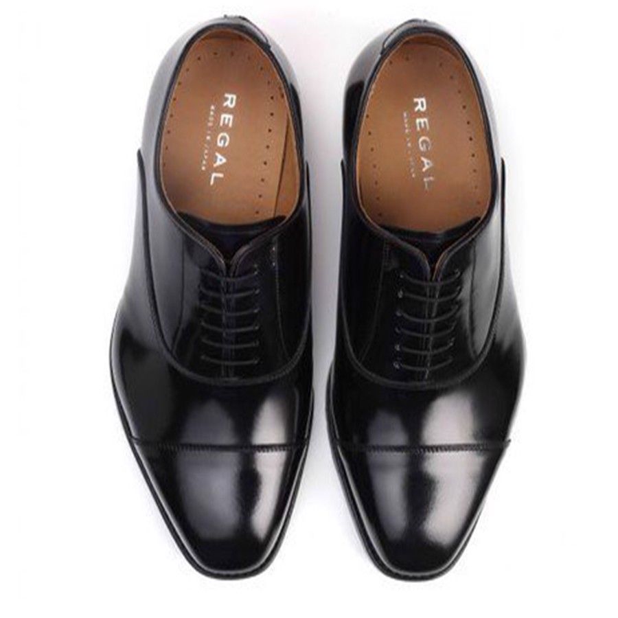 REGAL Black Captoe Oxford Dress Shoe
