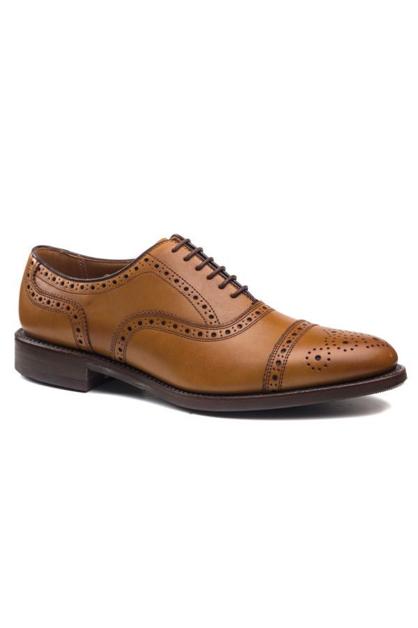 REGAL Oxford Cap Toe Full Brogue Brown