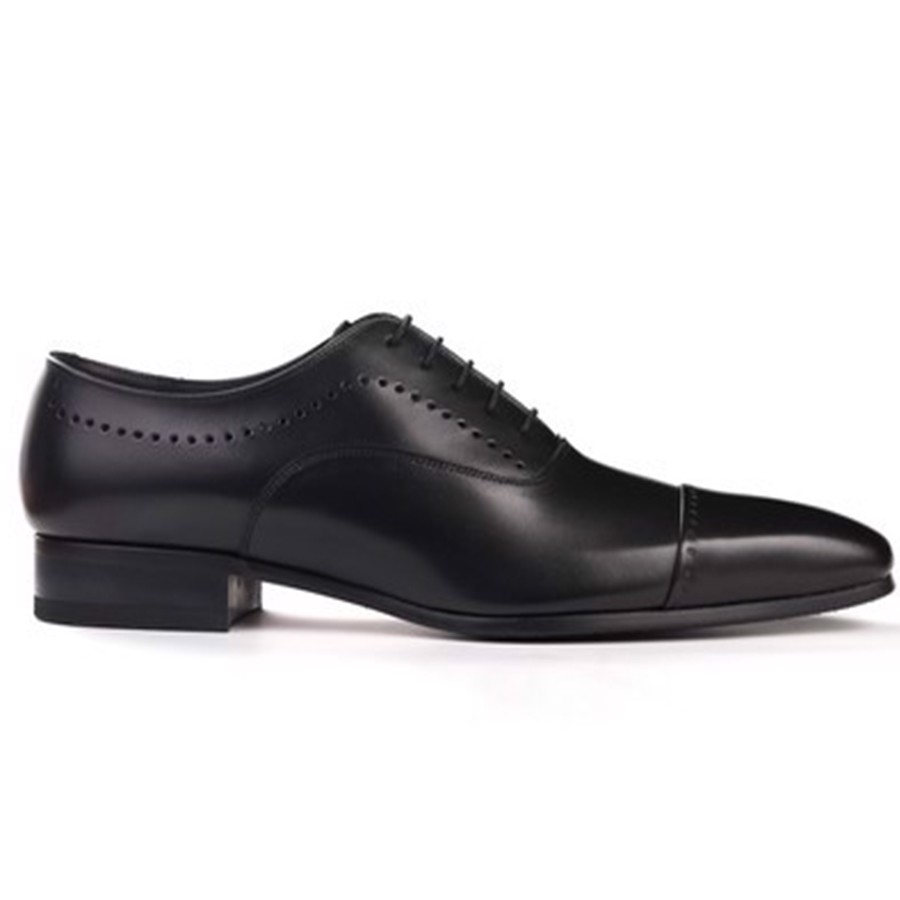 REGAL Black Semi Brogue Oxford Dress Shoe