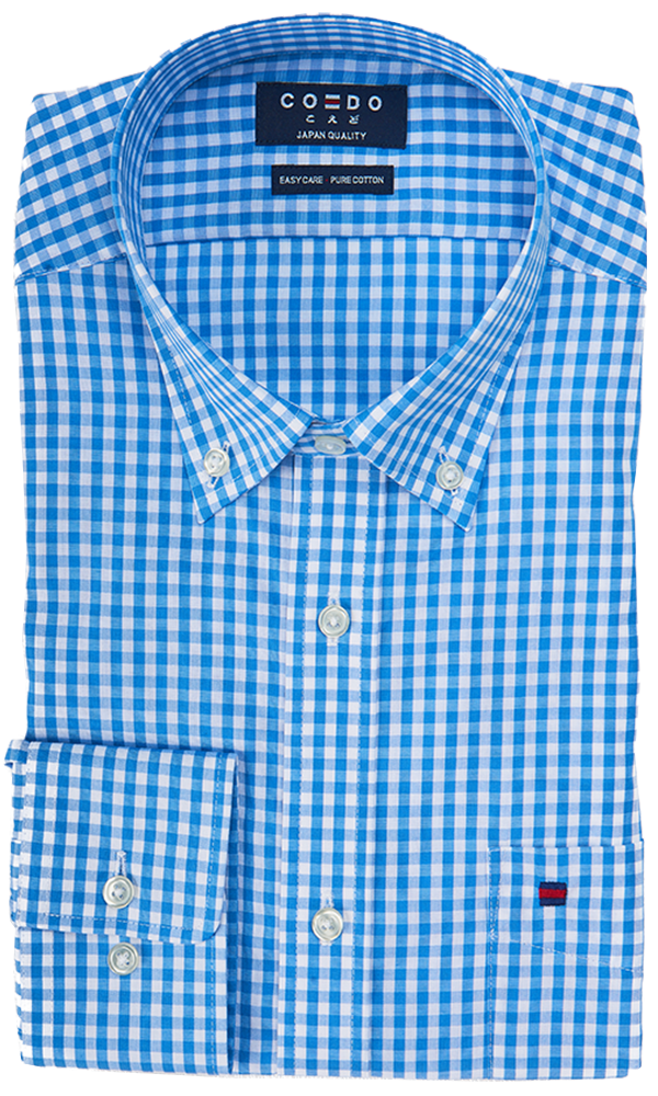 COEDO Button Down Light Blue Pocket