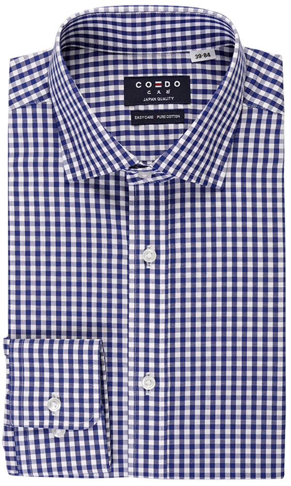 Coedo Semi Wide Poplin Navy Gingham