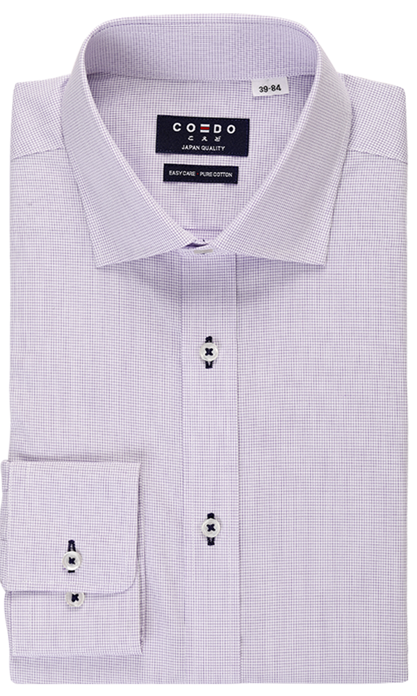 COEDO Semi Wide Poplin Saxe Glen Check