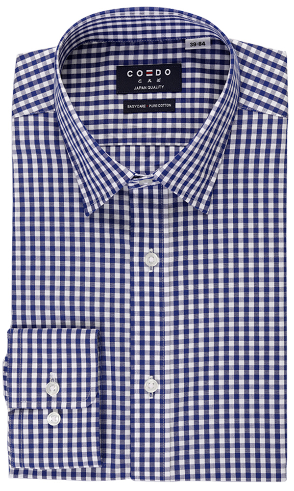 COEDO Regular Poplin Navy Gingham