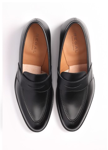 REGAL Penny Loafers Black