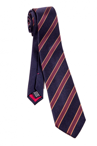 FRANCO SPADA Blue & Red Regimental Stripe Tie