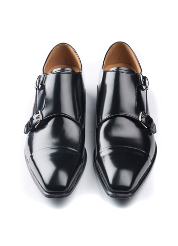 REGAL Double Monk Strap Black