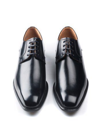 REGAL Derby Plain Toe Black