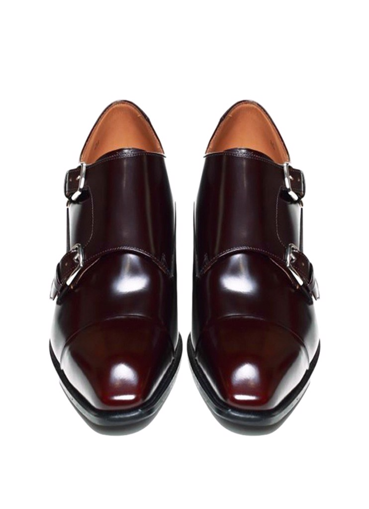 REGAL Double Monk Strap Dark Brown