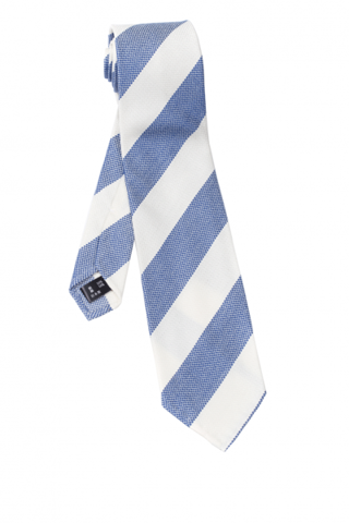 FRANCO SPADA Blue & White Stripes Tie