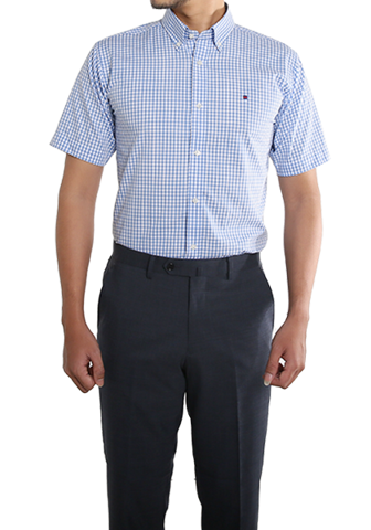 COEDO Button Down Light Blue Gingham