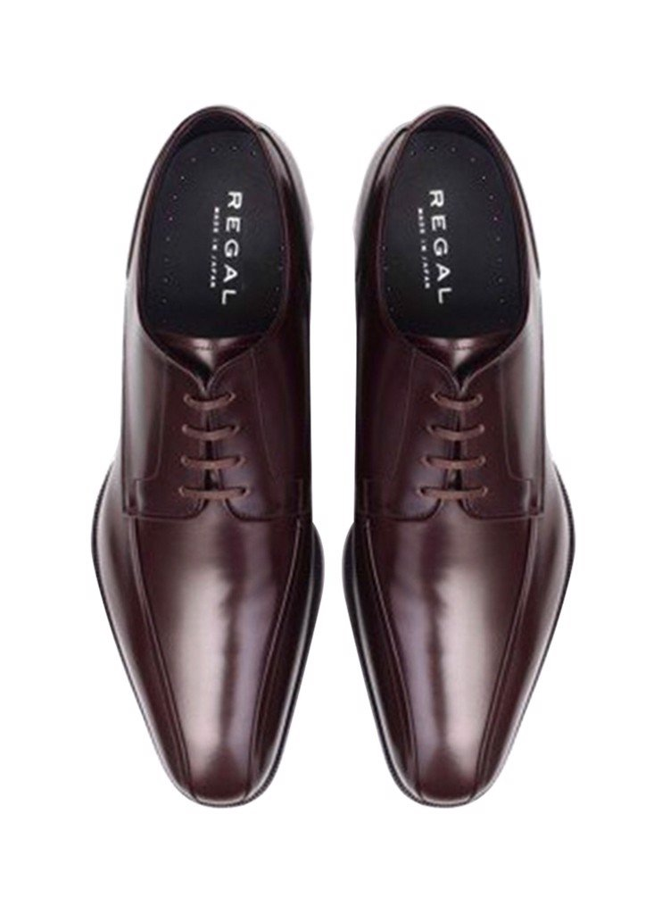 REGAL Dark Brown Cap Toe Oxford Dress Shoe