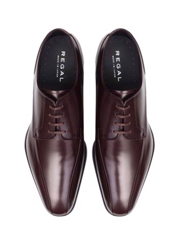 REGAL Dark Brown Derby Dress Shoes