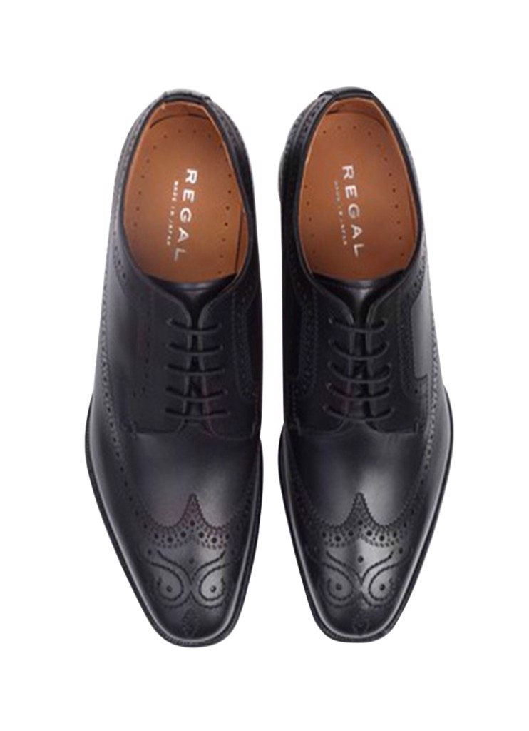 REGAL Black Wing Tip Brogue Oxford