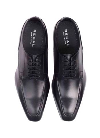 REGAL Black U-Tip Derby Dress Shoe
