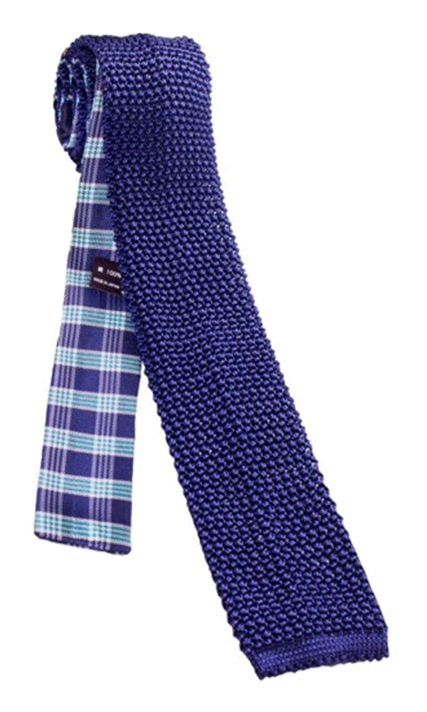 FRANCO SPADA Navy Mint Knit Silk Tie