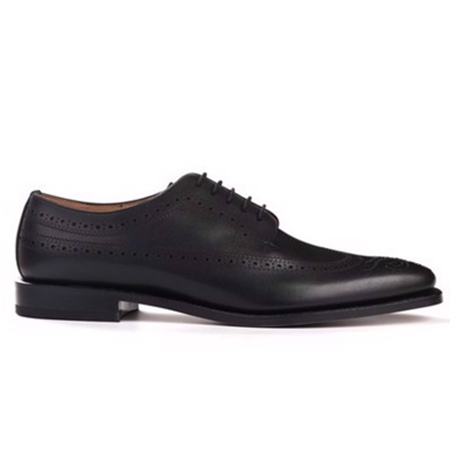 REGAL Black Wingtip Derby Dress Shoe