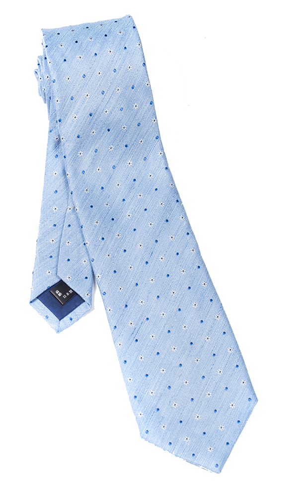 FRANCO SPADA Light Blue Novelty Tie