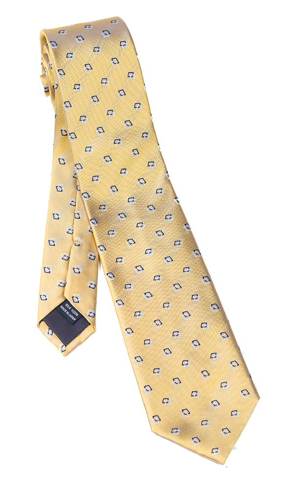 FRANCO SPADA Gold Novelty Tie