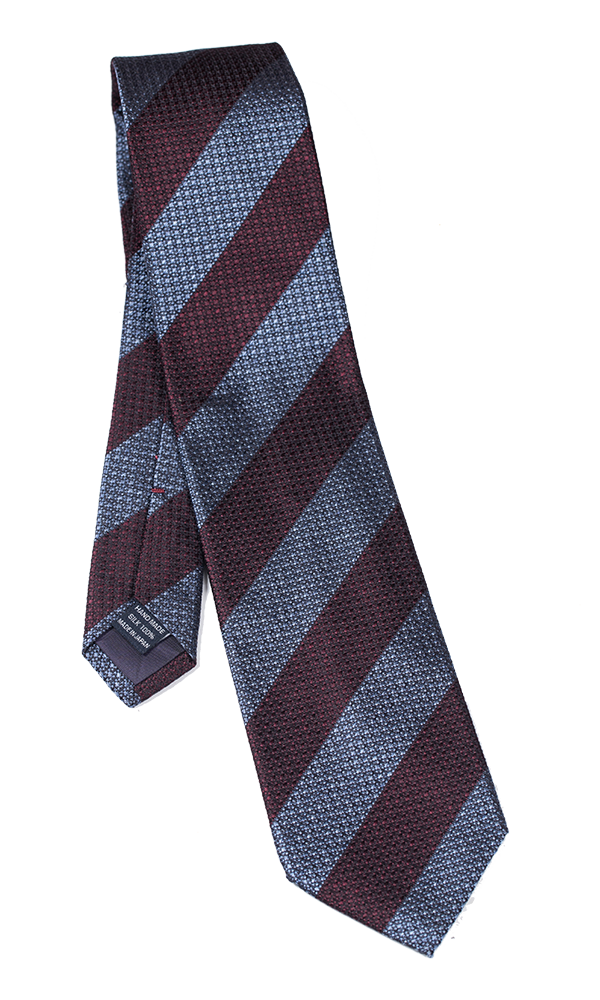 FRANCO SPADA Blue & Brown Stripes Tie
