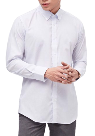 COEDO Button Down Poplin Saxe Graph Check