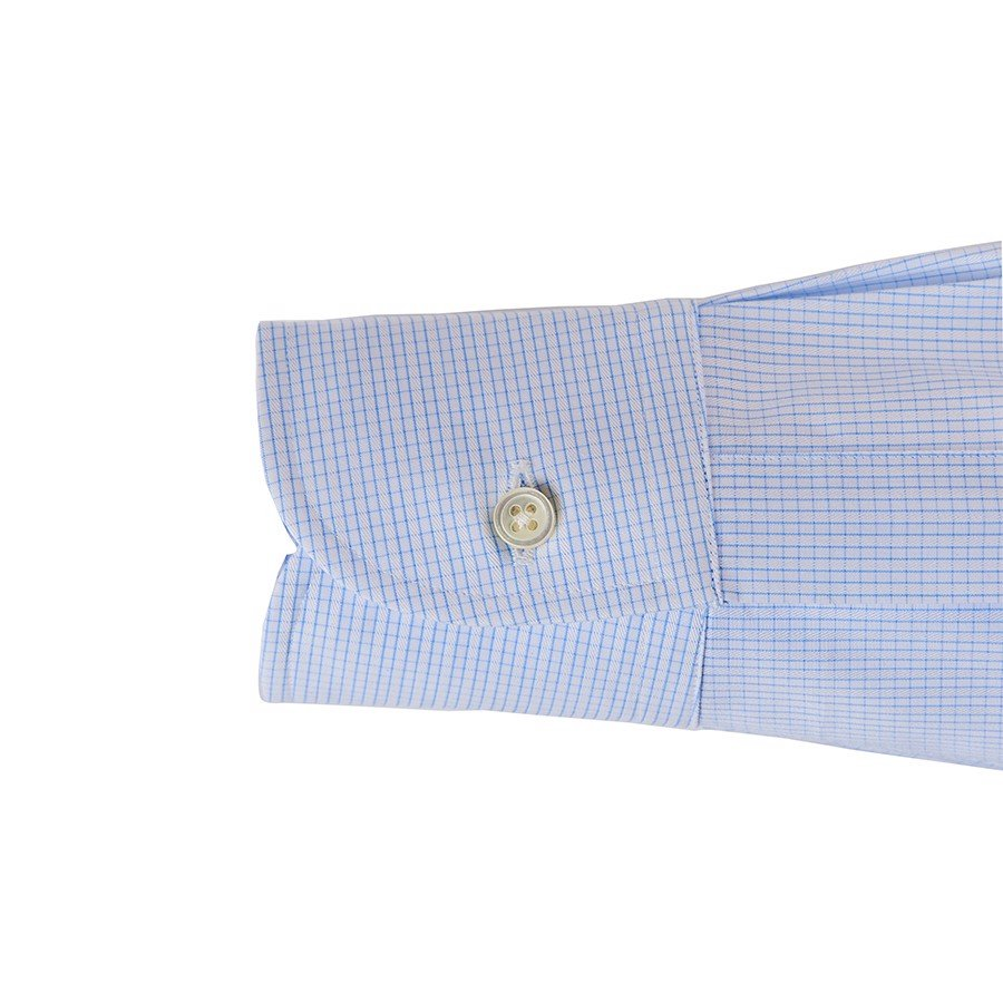KARUIZAWA Button Down Saxe Glen Check