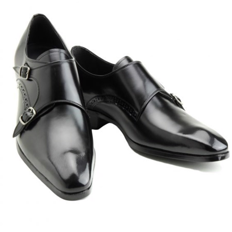 REGAL Madras Double Monk Strap Black