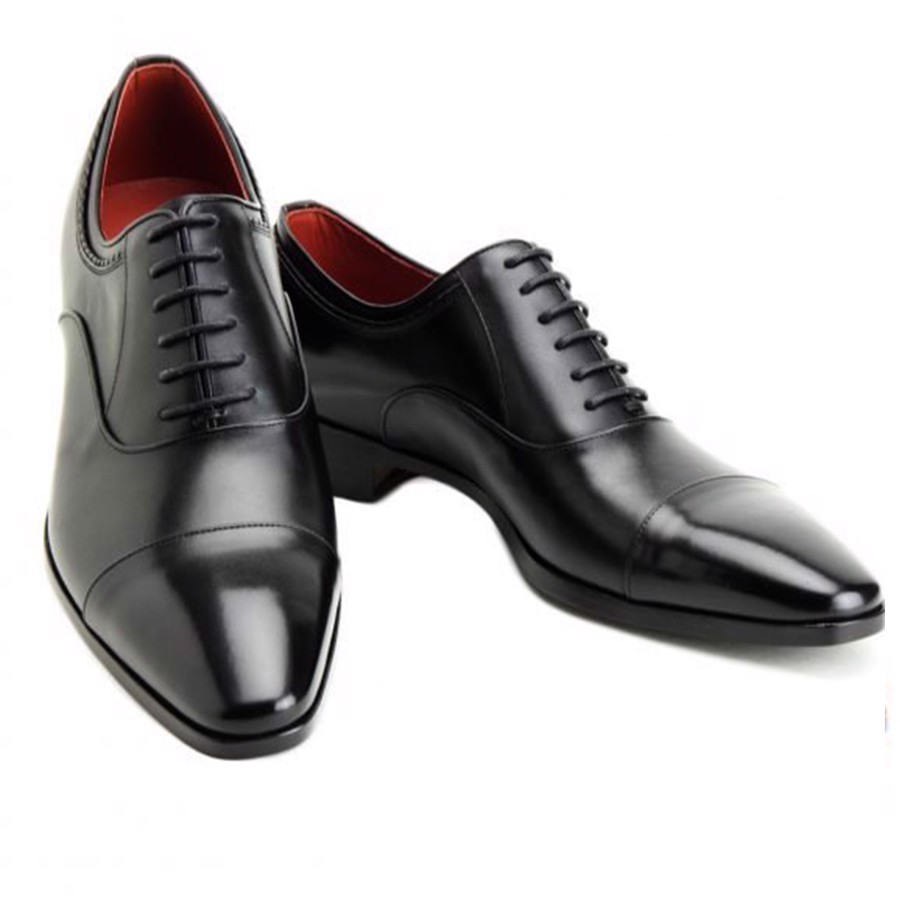 REGAL Madras Oxford Cap Toe Black