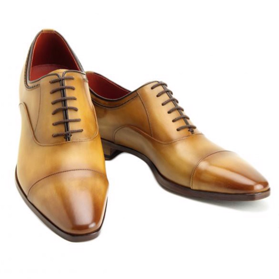 Madras Oxford Cap Toe Light Brown