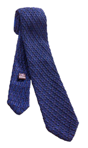 FRANCO SPADA Navy Knit Silk Tie