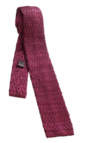 FRANCO SPADA Red Knit Silk Tie