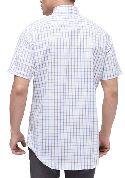 COEDO Semi Wide Poplin Blue Big Check