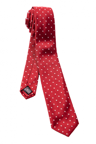 FRANCO SPADA Red Polka Dots Tie