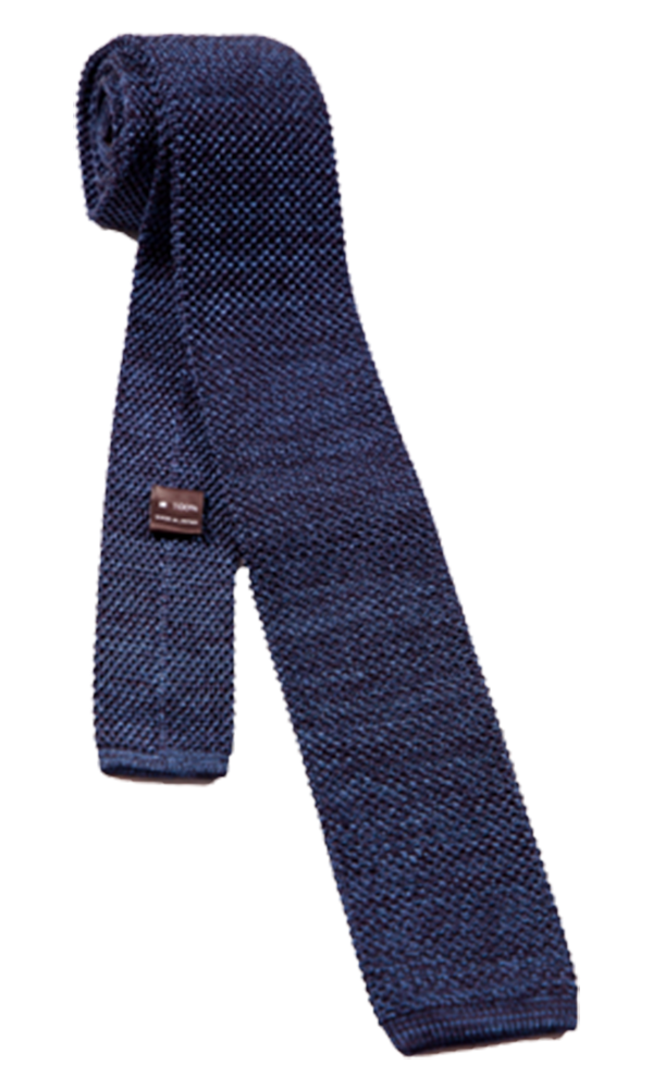 FRANCO SPADA Dark Blue Knit Silk Tie