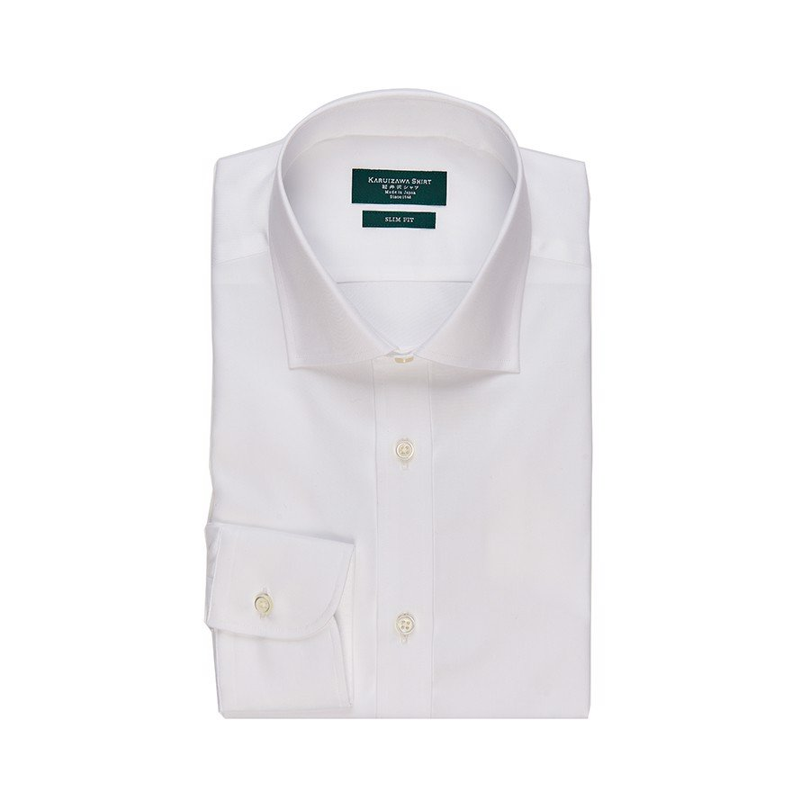KARUIZAWA Semi Wide Poplin White Chambray