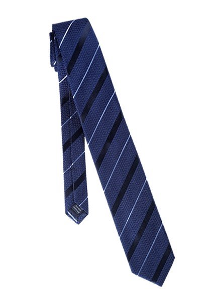 FRANCO SPADA Navy Silk Stripe