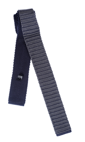 FRANCO SPADA Grey Knit Tie Horizontal