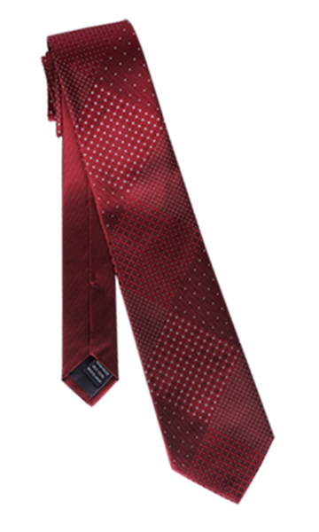 FRANCO SPADA Red Silk Polka dots